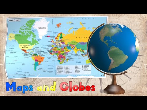 Maps and Globes for Kids   Noodle Kidz Educational Video
