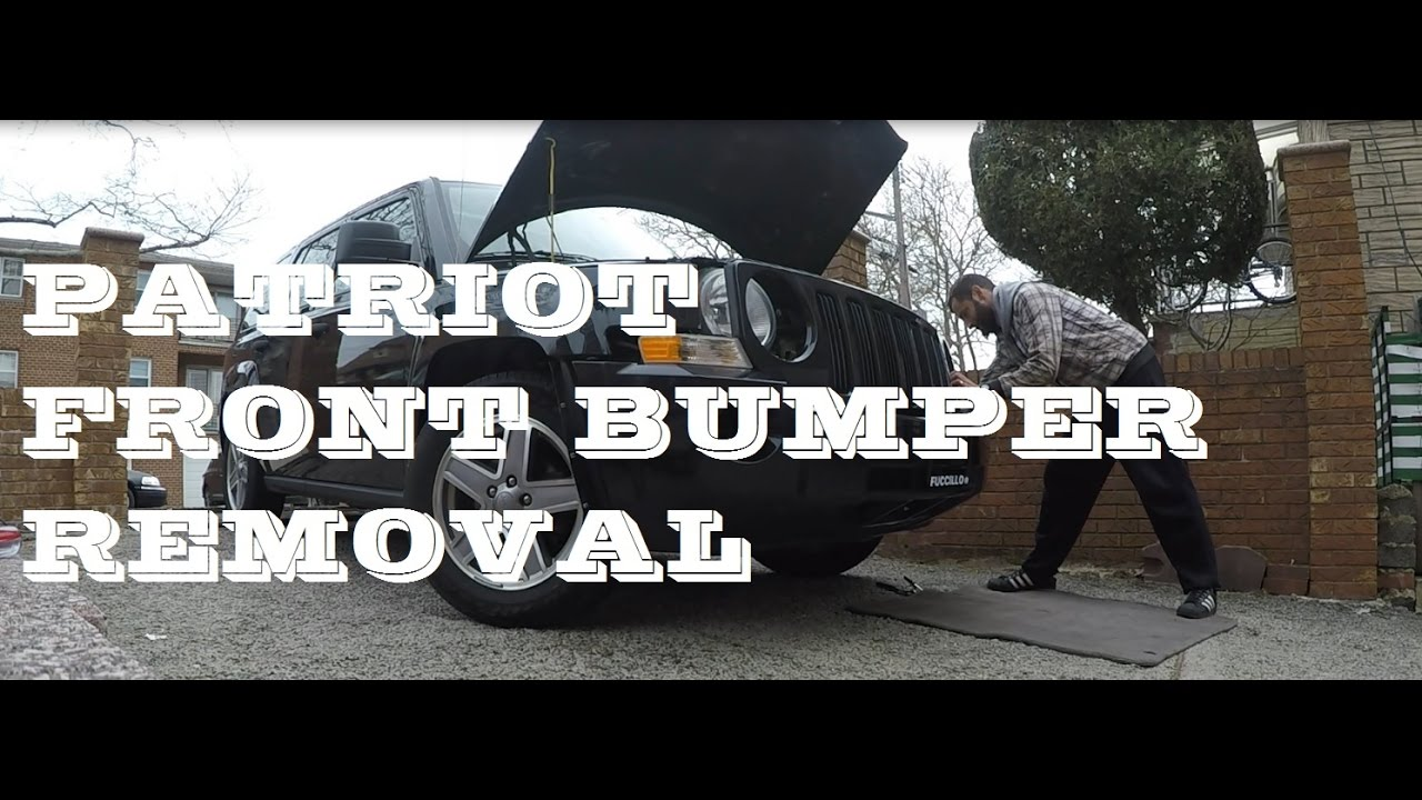 maxresdefault how to remove replace install front bumper jeep patriot youtube