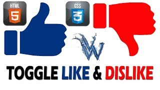 like dislike button html code, like dislike toggle By Amazing Techno Tutorials