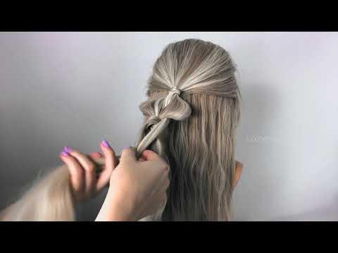"""Прически на Длинные Волосы из резинок. Плетение """"Двойной узел"""". ©LOZNITSA Прически на Новый год."""