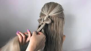 """Прически на Длинные Волосы из резинок. Плетение """"Двойной узел"""". ©LOZNITSA"""