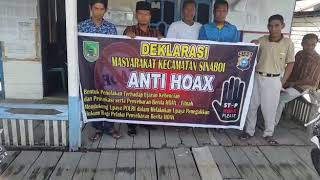 Deklarasi Hoax oleh Tokoh dan Masyarakat Jl.Utama Rt.02 Rw.04 Kel.Sinaboi Kec.Sinaboi Kab.Rohil