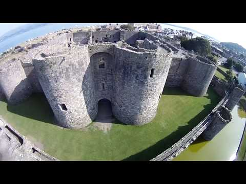 Beaumaris castle and town on Anglesey