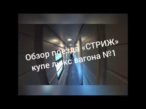 Обзор фирменного поезда «Стриж», вагон №1, купе люкс, маршрут Нижний Новгород — Москва
