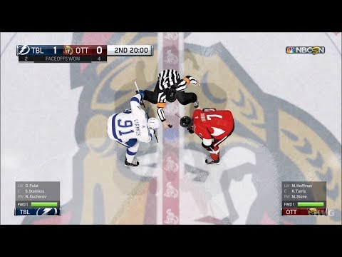 NHL 18 - Ottawa Senators vs Tampa Bay Lightning - Gameplay (HD) [1080p60FPS]