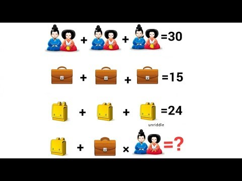 Chinese Couple Equation Only for Genius ! Can you solve it ?