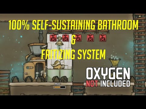 Oxygen Not Included: 100% Self-sustaining Bathroom and Fertilizing system
