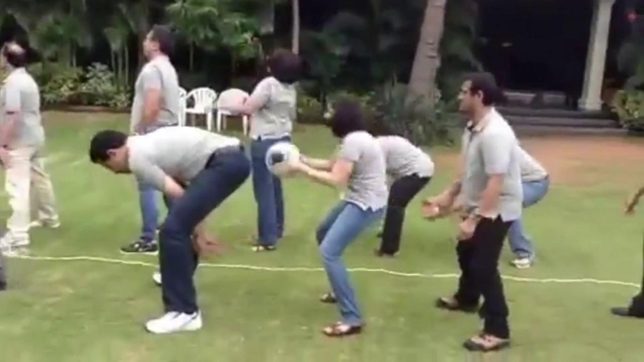 Team Building Activities - Pass The Ball Race