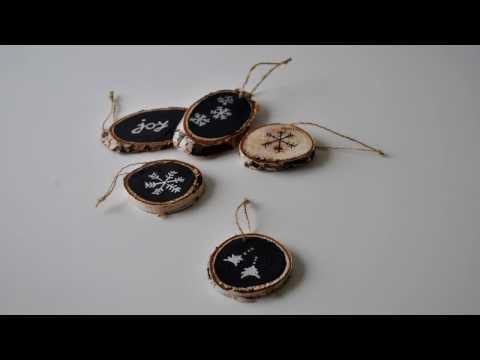 Christmas decoration - wood slice ornaments