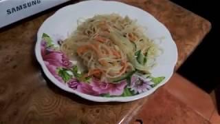 Фунчоза по-корейски с кальмарами и овощами Чим-Чим 오징어와 국수 [KRAFT Кухня]