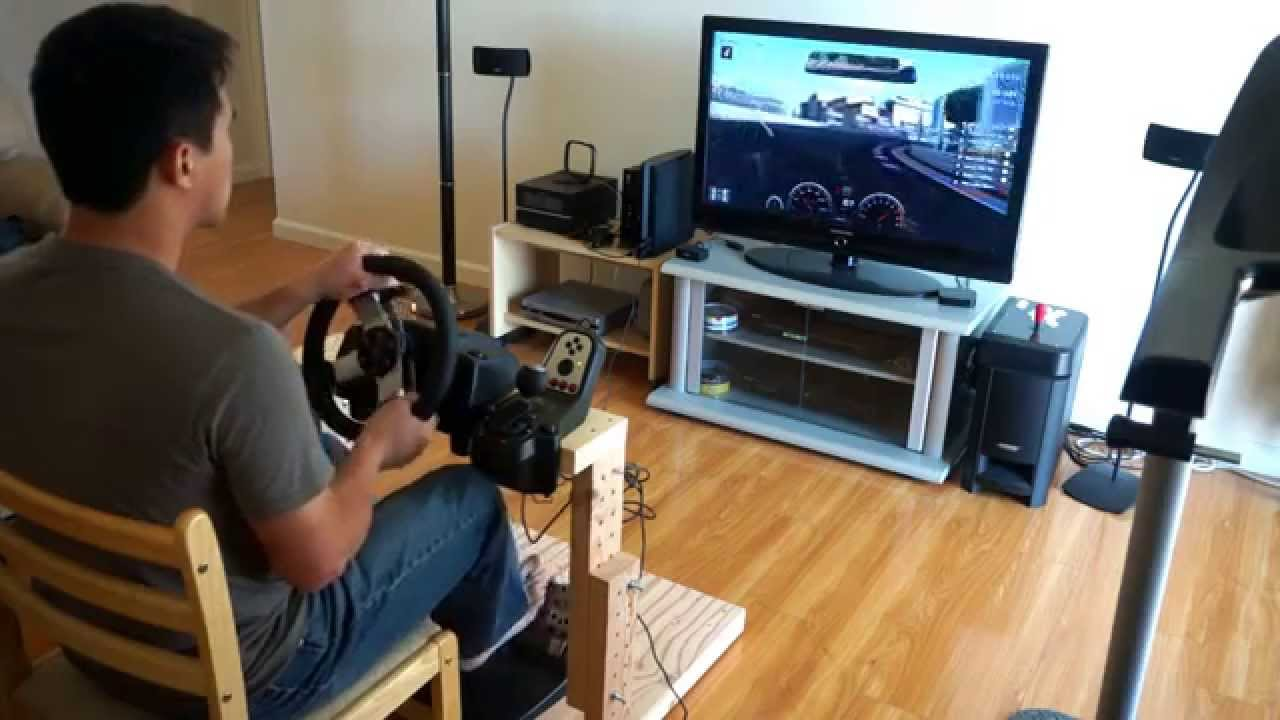 Gt6 Game Play The Best Homemade Logitech G27 Wheel Stand In The