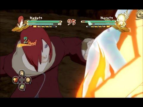 (PS3) Edo Nagato vs Naruto (Tailed Beast Bomb) Naruto Ultimate Ninja Storm 3