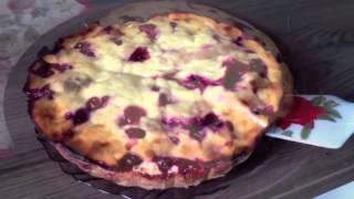 Деревенский ягодный пирог за 50 минут
