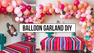 Balloon Garland Arch DIY Tutorial
