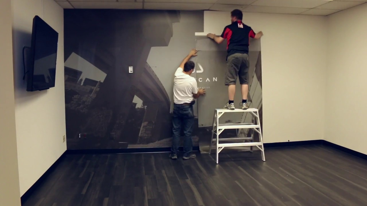 How to install your mural wallpaper   YouTube How to install your mural wallpaper