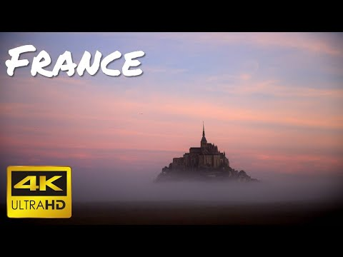 France [4K SlideShow] Beautiful Landscape (Mont-Saint-Michel Saint-Malo Paris)