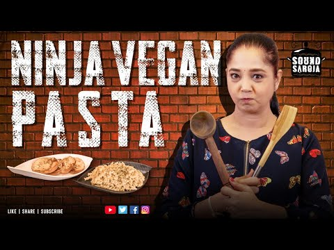 Creamy Vegan Pasta with Garlic Bread Recipe | WhiteSauce Pasta Without Cheese in Tamil |#SoundSaroja