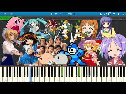 Nico Nico Douga Ryuuseigun Medley | Piano | Synthesia