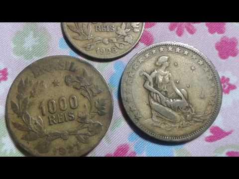 BELÍSSIMAS!!! Moedas de 1000 e de 500 réis dos anos de 1927 e 1928
