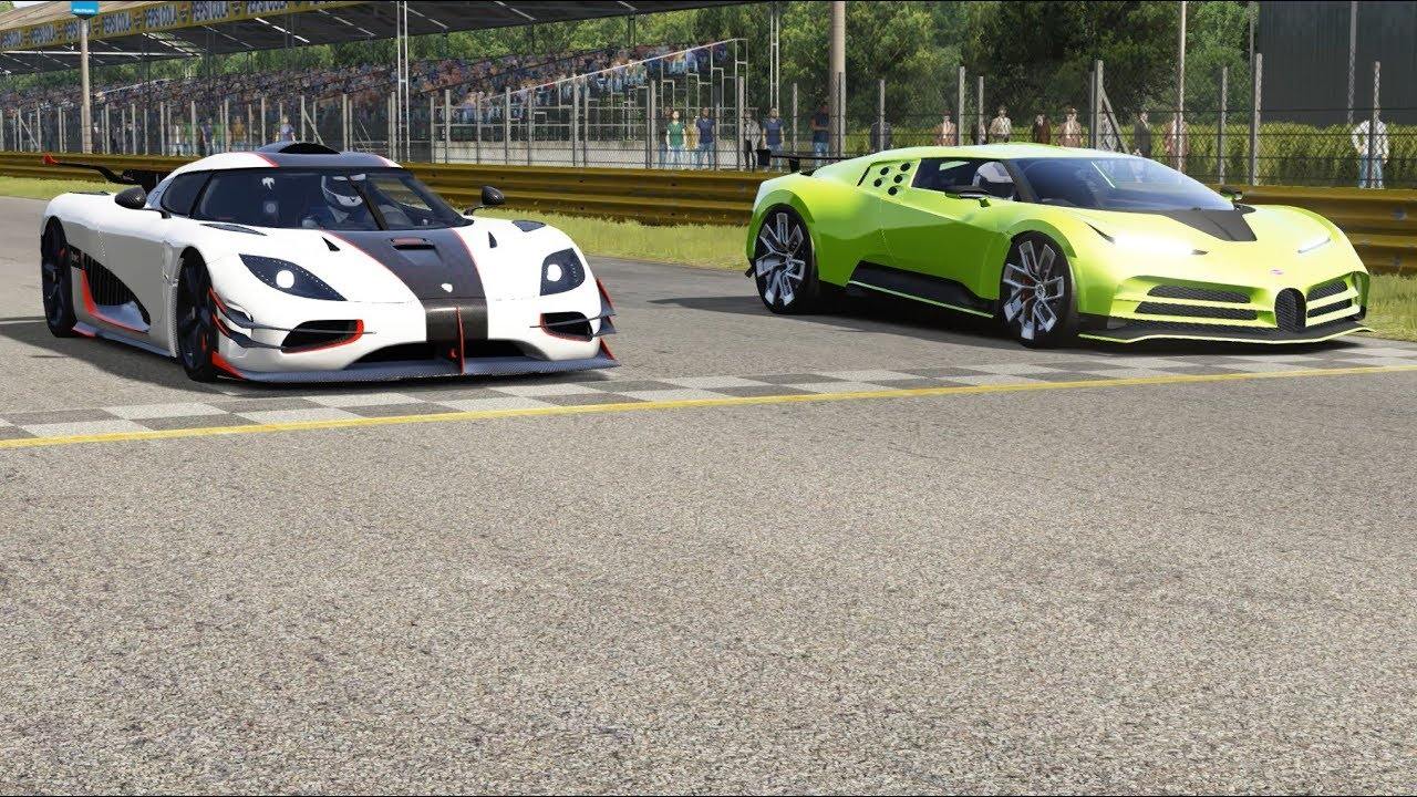 Koenigsegg One:1 vs Bugatti Centodieci at Monza Full Course