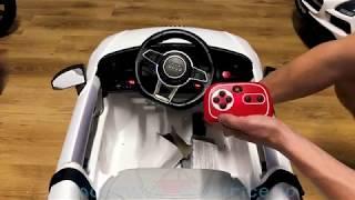 Masinuta electrica Audi TT RS pentru copii - instructiuni de asamblare / montaj