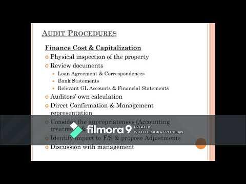 Borrowing Cost & Financial Liability Presentation