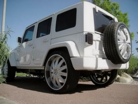 Jeep Wrangler Unlimitted On 24s Rims   AMAZING CAR   YouTube