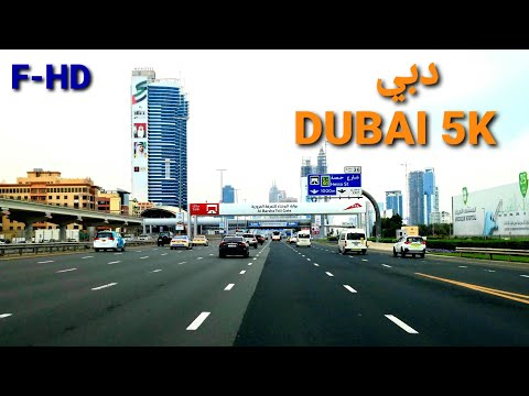 DUBAI 5K- drive in downtown _ in the morning- 21 February 2021