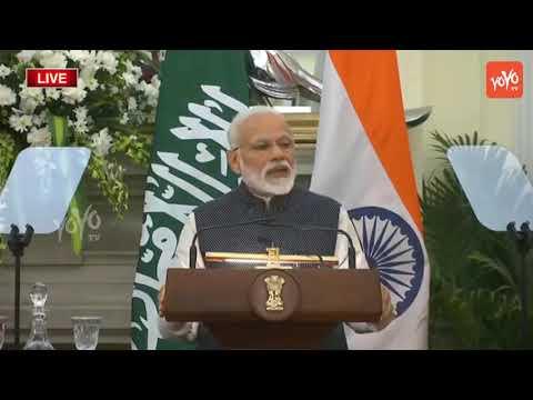 PM Modi Speech Today | PM Modi & Saudi Arabia Prince Mohammed Bin Salman Joint Press Meet | YOYO TV