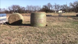 How to move a round bale of hay without a tractor