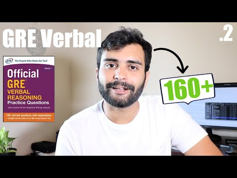 GRE Verbal - Scoring 160+ | (Resources Attached) #2