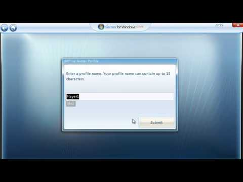 How to create account in [Games for Windows Live] tutorial