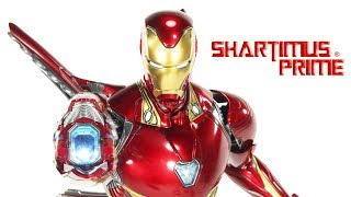 Hot Toys Iron Man Mark 50 Avengers Infinity War Movie 1:6 Scale Marvel Studios Action Figure Review