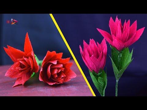DIY Crepe  Paper Mums (Chrysanthemum)   Very Easy Way To Make Crepe Paper Flowers