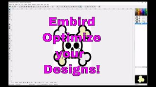 Embird OPTIMIZE your embroidery designs to get rid of jump stitches!😀