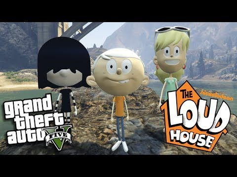 GTA 5 Mods - THE LOUD HOUSE MOD w/ LINCOLN LOUD, LENI LOUD & LUCY LOUD (GTA 5 Mods Gameplay)