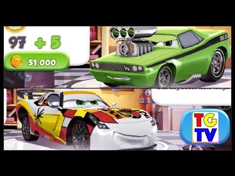 Disney Cars 2 Screen Race Neon Tuner VS World Grand Prix | Cars Fast as Lightning