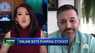 Are bot-like accounts pumping stocks?