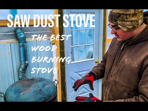 New Saw Dust Wood Stove! | Is it the best wood stove for a greenhouse?| DIY Wood Stove