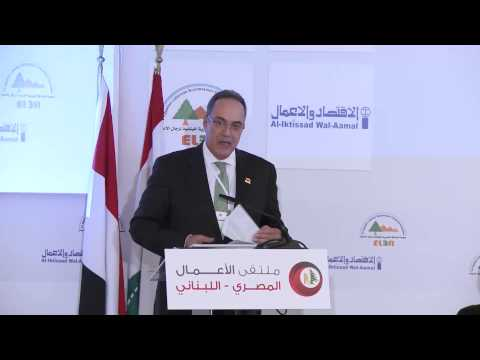 Eng. Fathallah Fathallah, during Egypt-Lebanese Business Forum