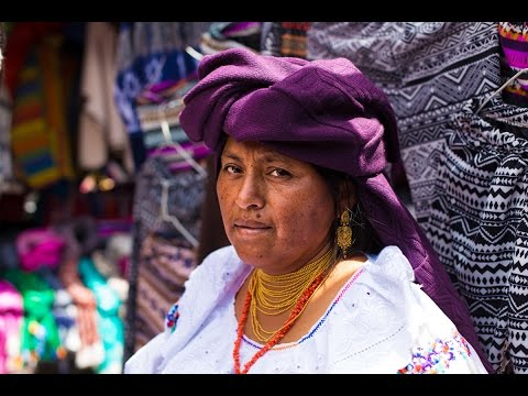 Portrait Photography in The Otavalo Market, Ecuador