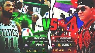 NBA STAR KYRIE IRVING vs GRINDING DF DEMI-GOD REBIRTH BUILD!! NBA PLAYER EXPOSED?! NBA 2K19