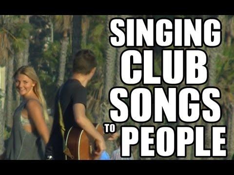 Public Prank  Singing Club Songs To People