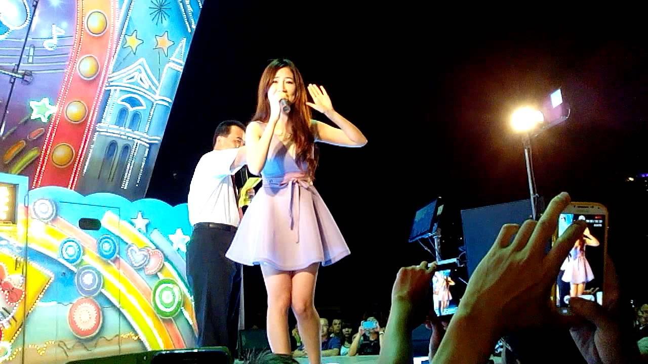 安平劍獅假日夜市開幕-向蕙玲-月亮的眼淚 - YouTube