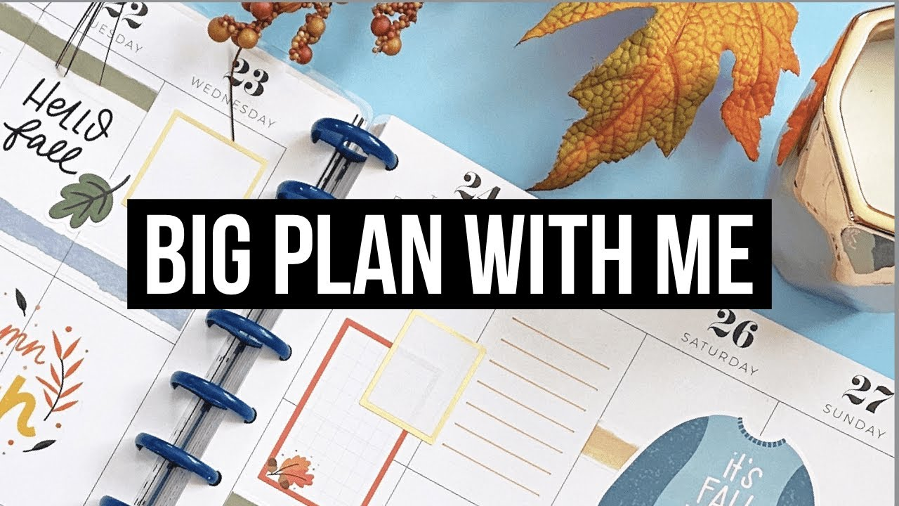 Plan With Me // Big Happy Planner // First Week of Fall // Patron Spread