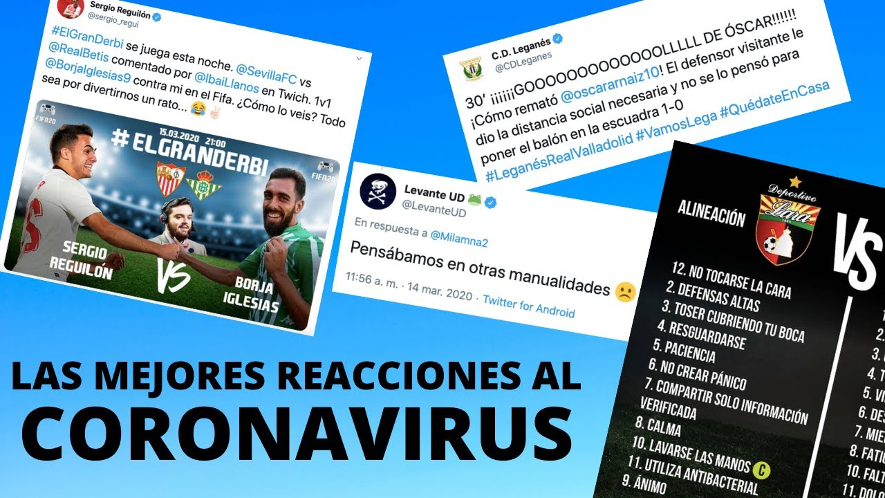 LAS REACCIONES DE TWITTER MÁS GRACIOSAS AL PARÓN DEL FÚTBOL