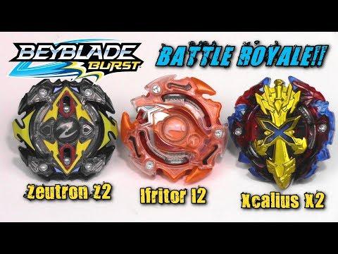 Beyblade Burst BATTLE ROYALE!! Zeutron Z2 | Ifritor I2 | Xcalius X2