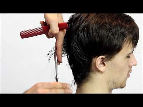 Men's medium layered haircut Full step by step Tutorial