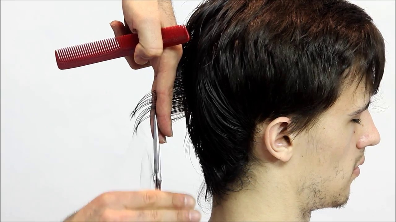 Mens Medium Layered Haircut Full Step By Step Tutorial Youtube