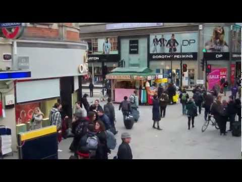 Oxford Street to Victoria Station, London - viewed from a no 73 bus